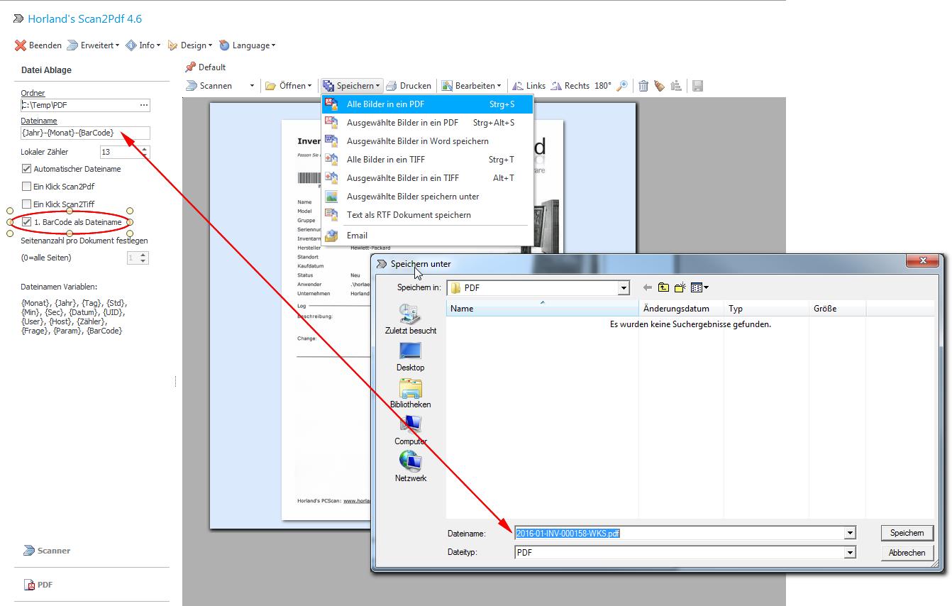 Scan2pdf Barcode Erkennung Blog Horland Software
